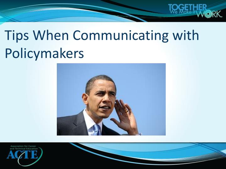 Tips When Communicating with Policymakers