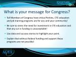 what is your message for congress