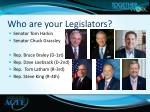 who are your legislators