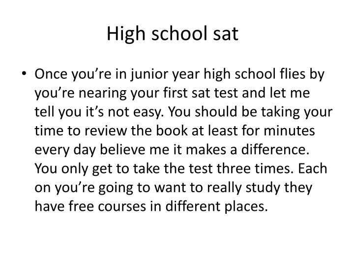 High school sat