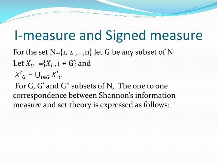 I-measure