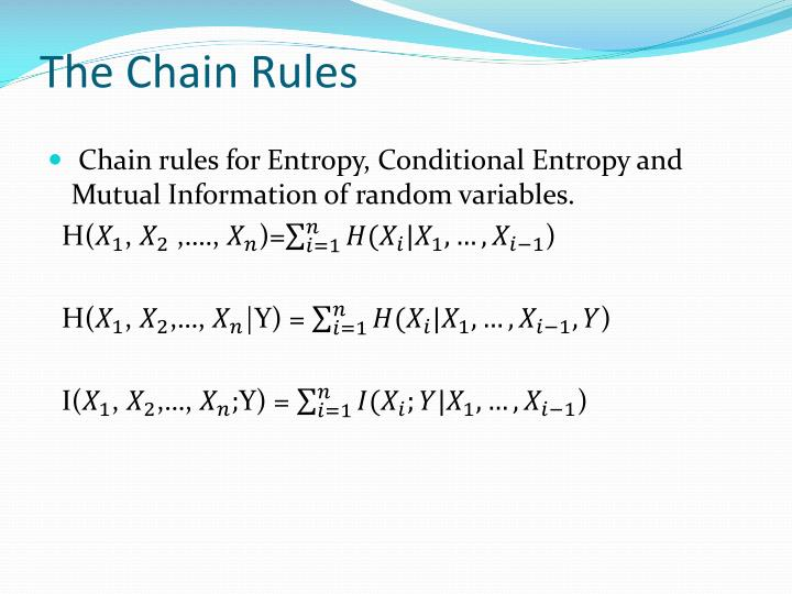 The Chain Rules