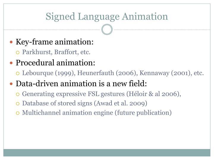 Signed Language Animation