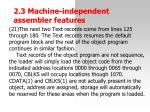 2 3 machine independent assemble r features27
