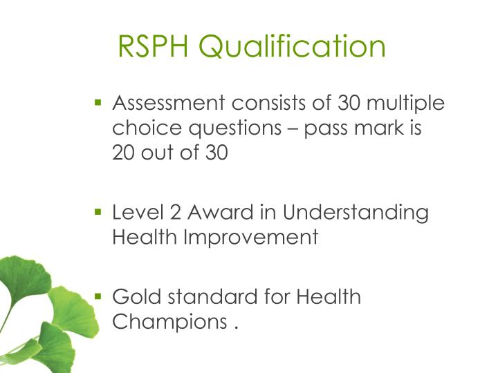 RSPH Qualification