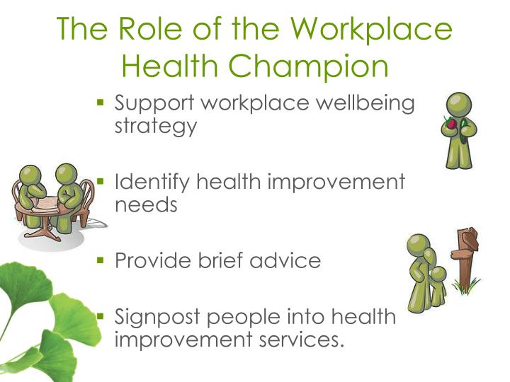 The Role of the Workplace Health Champion
