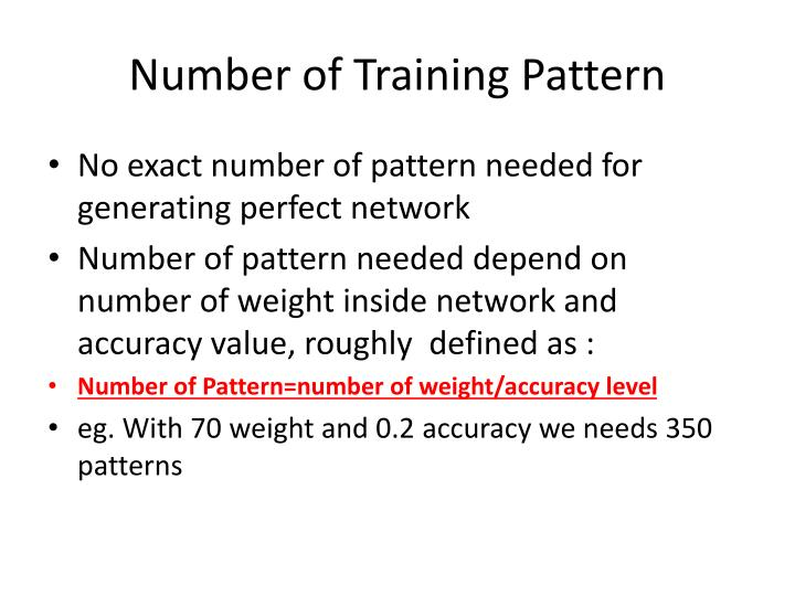 Number of Training Pattern