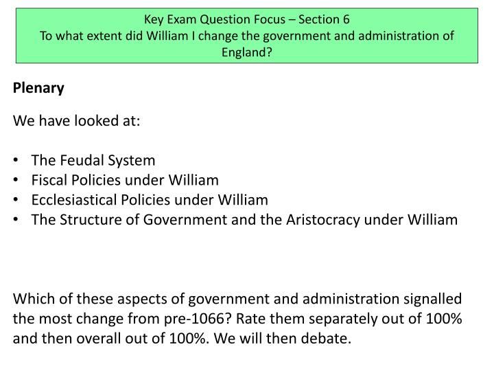 Key Exam Question Focus – Section 6
