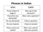 phrases in italian