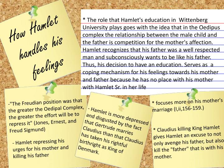 hamlet oedipus complex critical essay Critical approaches to hamlet a representation of the oedipus complex in freud's view, hamlet is torn largely because he his noted essay hamlet and his.