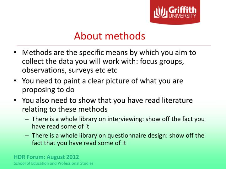 About methods