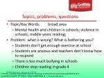 topics problems questions