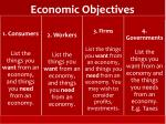 economic objectives