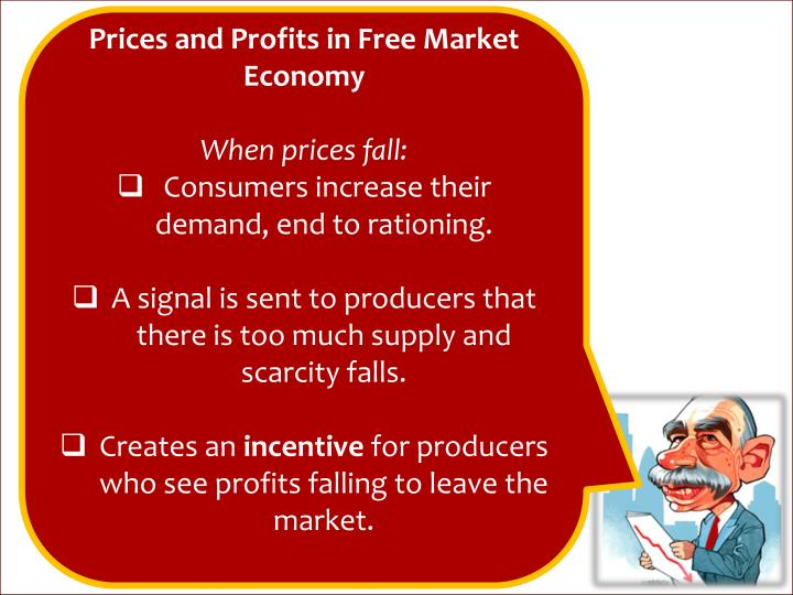 Prices and Profits in Free Market Economy
