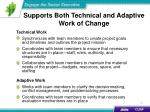 supports both technical and adaptive work of change2