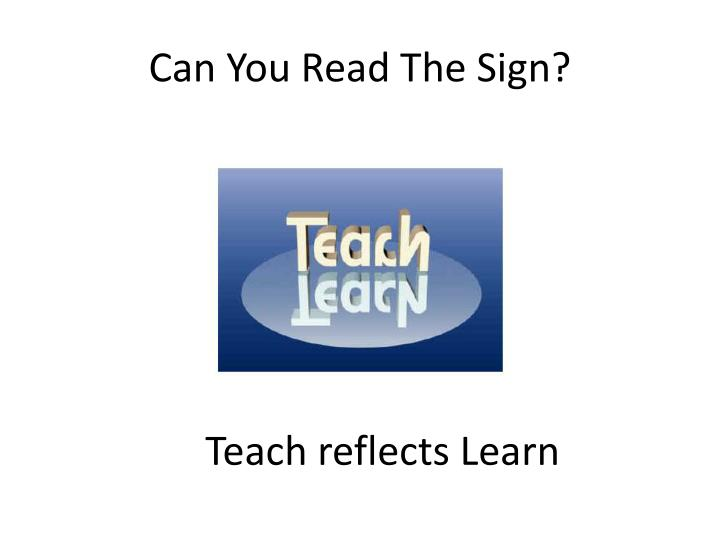 Can You Read The Sign?