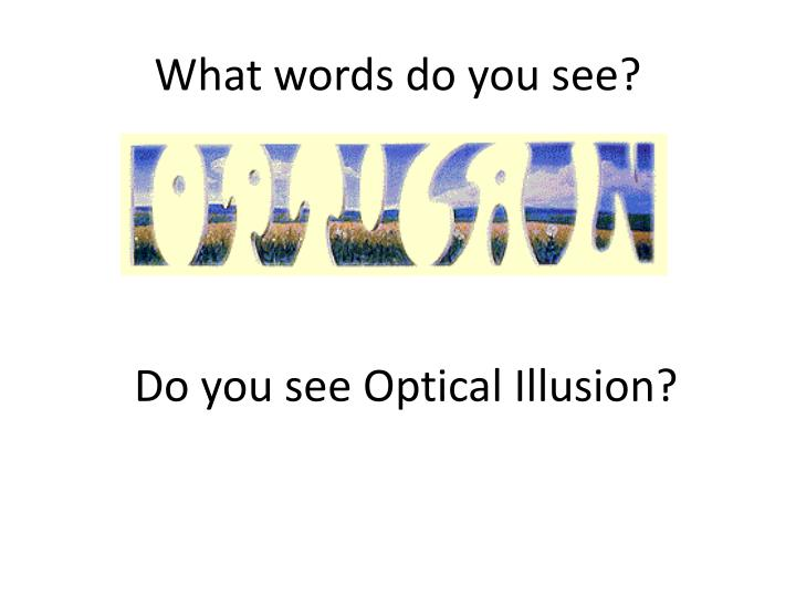 What words do you see?