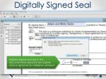 digitally signed seal