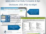 new sellers can easily complete sign disclosures tds spq via esign