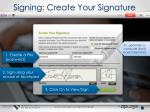 signing create your signature