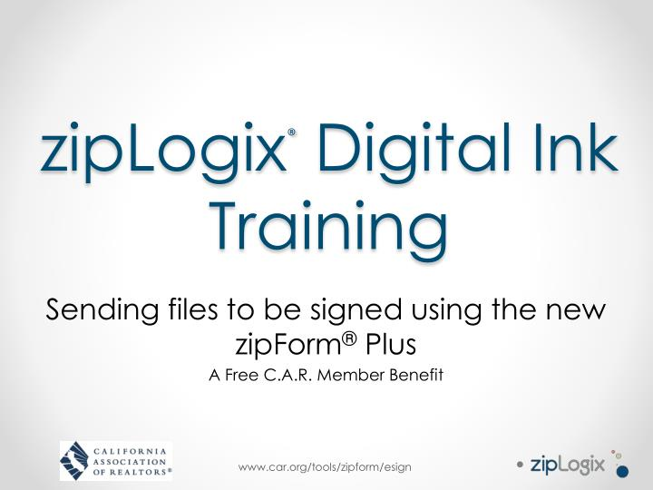 ziplogix digital ink training
