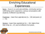 enriching educational experiences