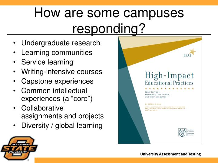 How are some campuses responding?