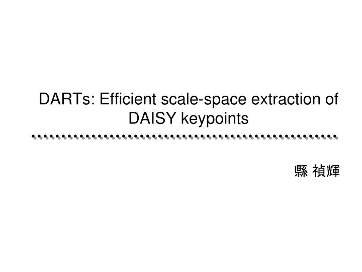 darts efficient scale space extraction of daisy keypoints