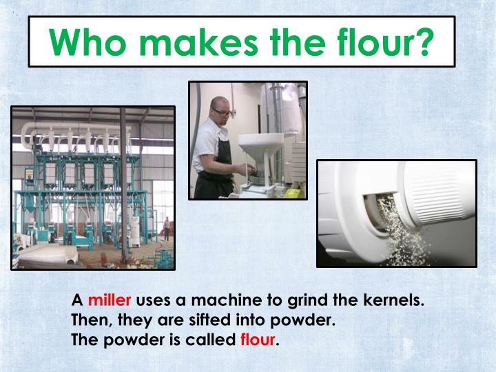 Who makes the flour?