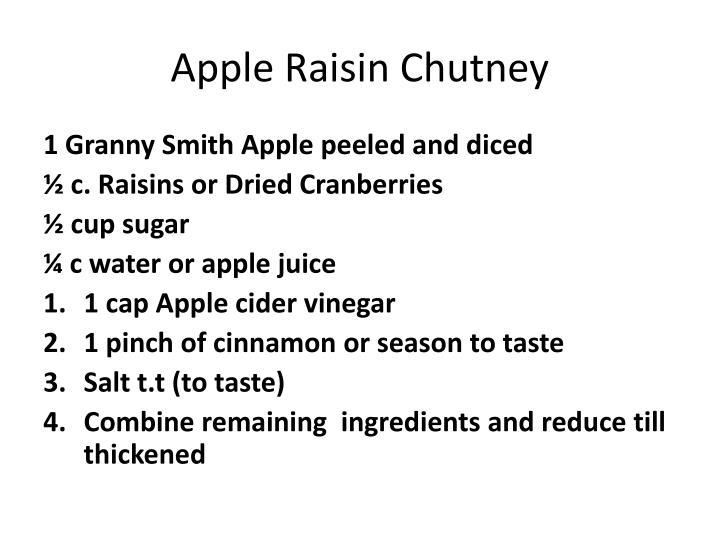 Apple Raisin Chutney