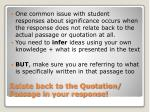 relate back to the quotation passage in your response