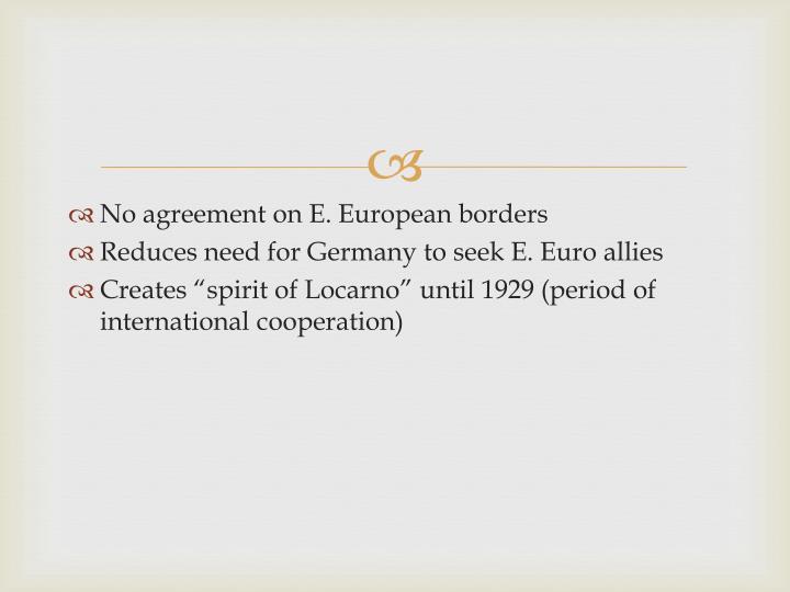 No agreement on E. European borders