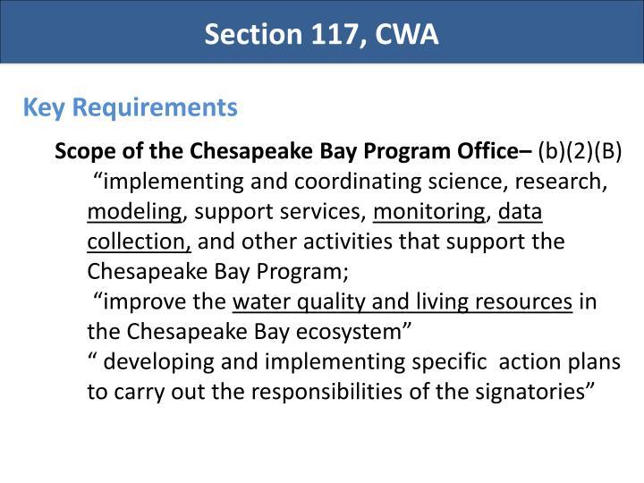 Section 117, CWA
