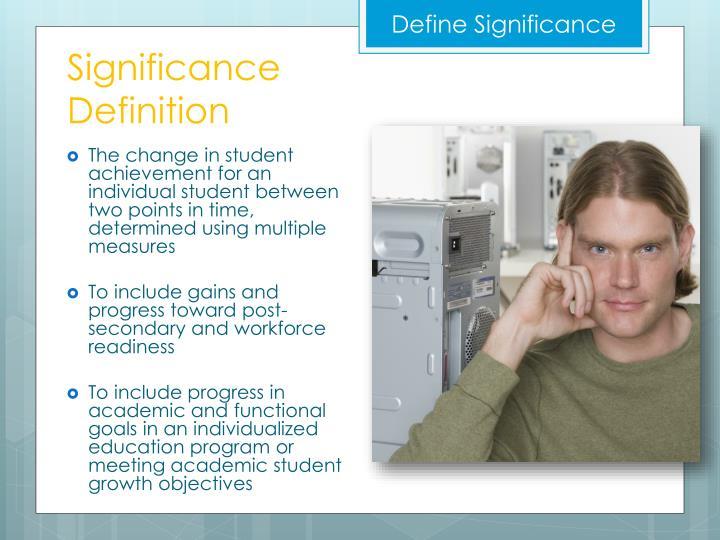 Define Significance