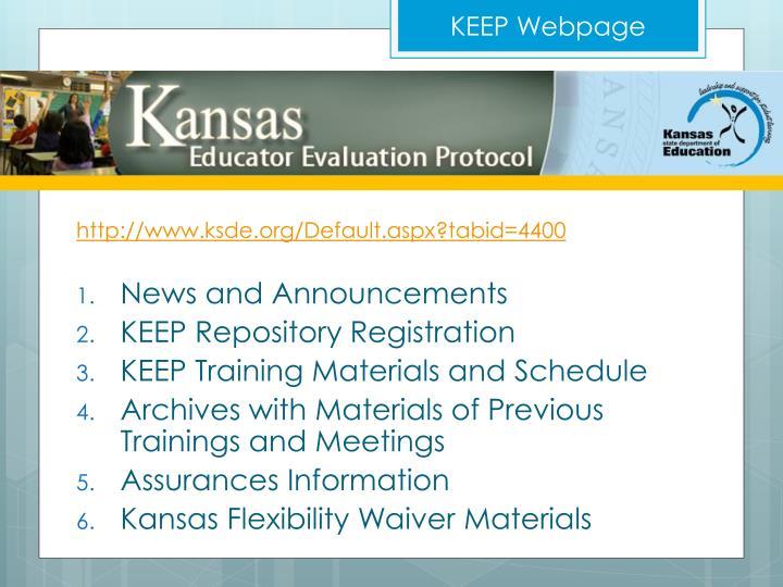 KEEP Webpage