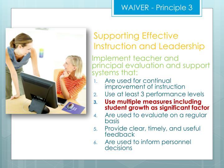 WAIVER - Principle 3
