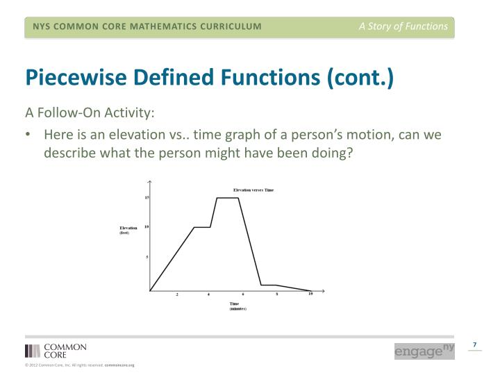 Piecewise Defined Functions (cont.)