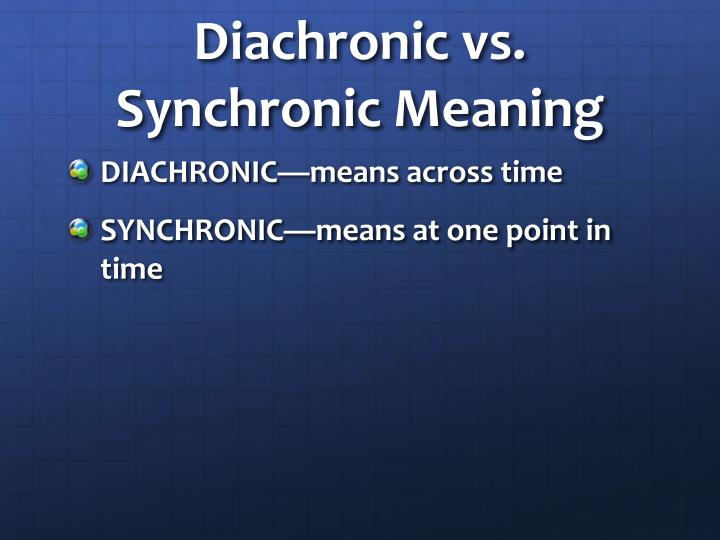 Diachronic vs. Synchronic Meaning