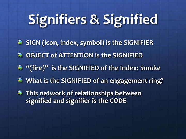 Signifiers & Signified