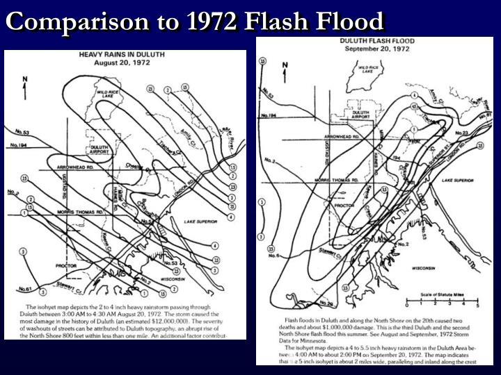 Comparison to 1972 Flash Flood
