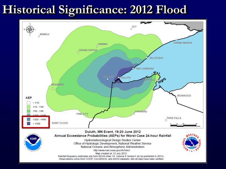 Historical Significance: 2012 Flood