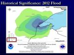 historical significance 2012 flood