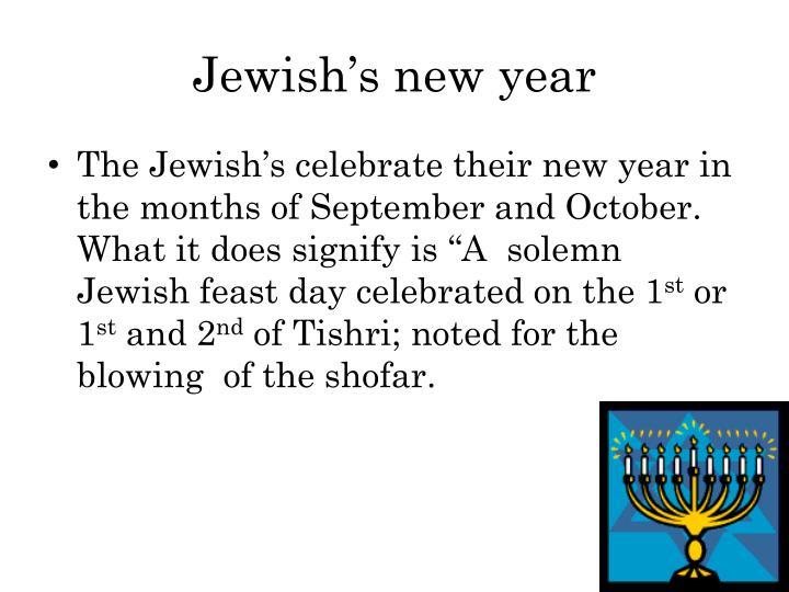 Jewish's new year