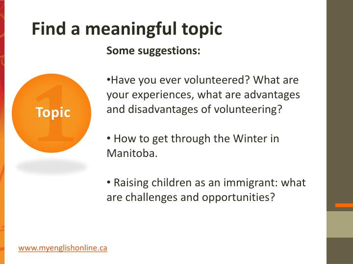 Find a meaningful topic