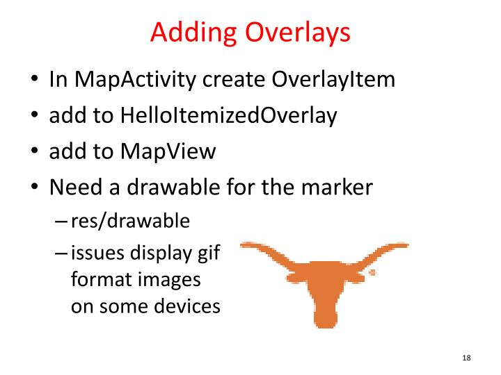 Adding Overlays
