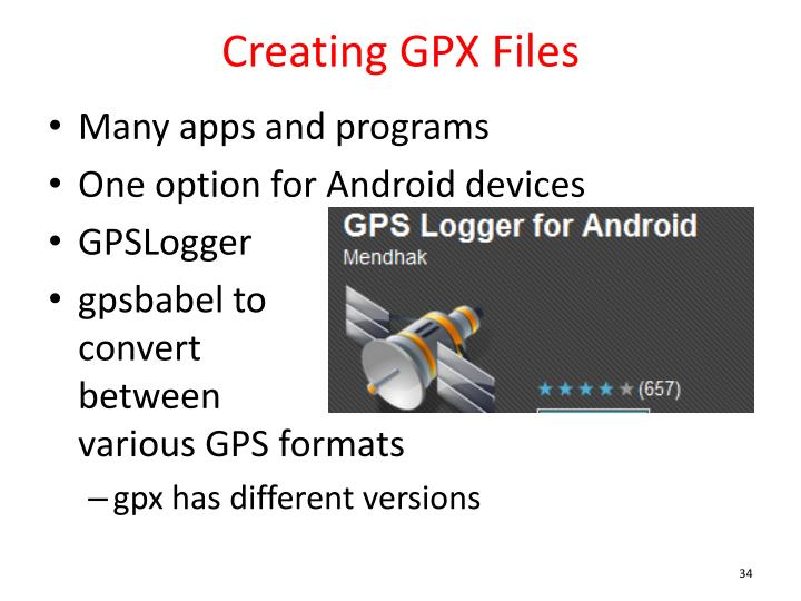 Creating GPX Files