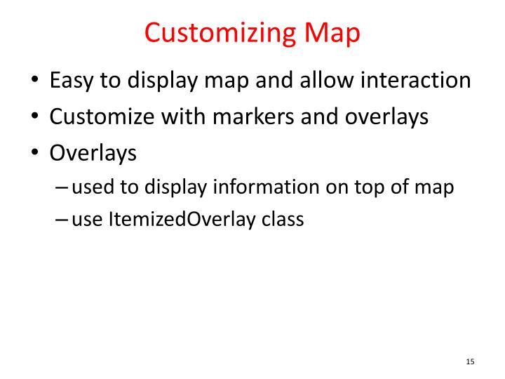 Customizing Map