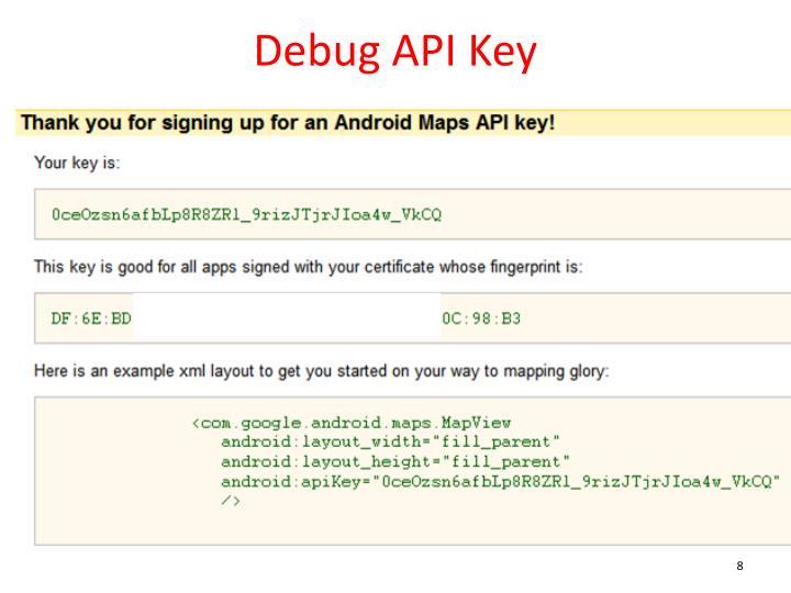 Debug API Key