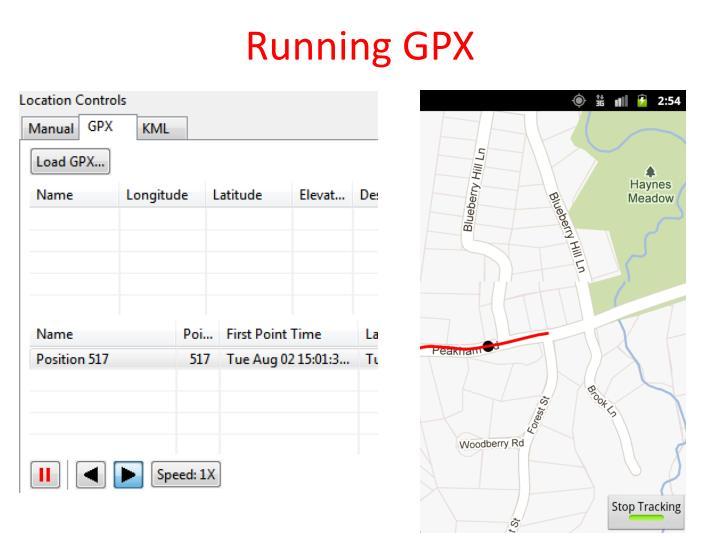 Running GPX