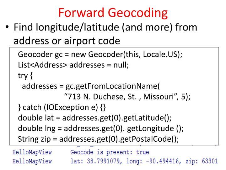 Forward Geocoding